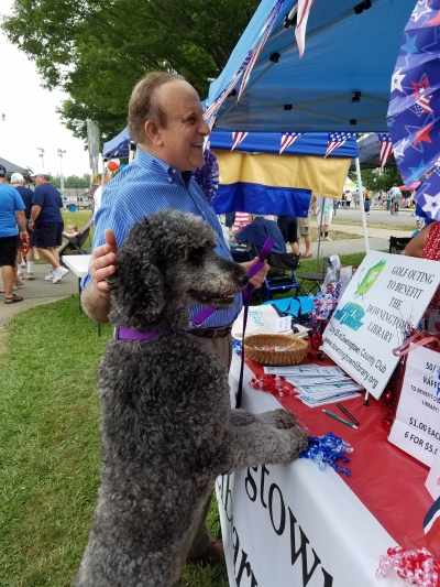 With my new rescue dog, Jagger, at Downingtown Good Neighbor Day.